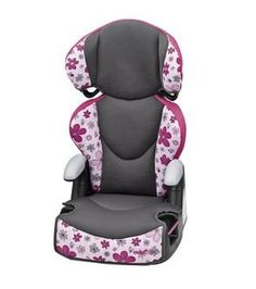 """Evenflo Big Kid Sport Booster Car Seat, Daisy Scribble  Car seat is designed for a child 40-100 lbs and 38-57"""" tall. Converts to backless booster seat. $38.97"""