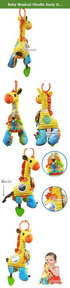 """Baby Musical Giraffe Early Development Plush Educational Bed Bell Ring Hang Toys. Brand:NEW.Character Family:Giraffe.Recommended Age Range:0+.1 piece soft plush toy( no other accessories).Model:Plush Doll. 100% brand new from the factory directly,not include original package. Material: Soft Plush. Style: Giraffe. Size: 10.6""""/27cm Height (measured included the rings.) Multiple bright colours, sounds and textures. Package Included: 1 piece soft plush toy( no other accessories) Brand:NEW..."""