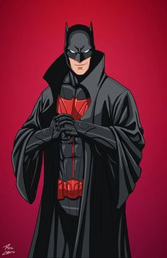 Batman Dick Grayson commission by phil-cho on DeviantArt Batman Poster, Batman Artwork, Batman Wallpaper, Dc Comics Characters, Dc Comics Art, Batman Comics, Red Batman, Batman Ninja, Superman