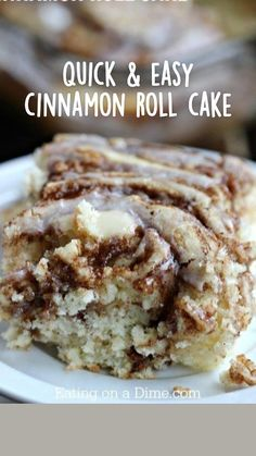 Homemade Desserts, Easy Cake Recipes, Easy Desserts, Baking Recipes, Delicious Desserts, Yummy Food, Easy Coffee Cake Recipe, Banana Dessert Recipes, Cinnamon Cake