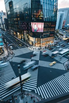 Ginza Crossing in Motion #Tokyo #Japan #Street #Urban #Photography #Explore #Adventure