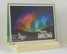 Northern Lights Background Greeting Card
