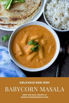 Easy Indian Recipes, Easy Recipes, Vegan Recipes, Cooking Recipes, Ethnic Recipes, Baby Corn Masala, Naan Roti, Indian Side Dishes, Vegetarian Curry