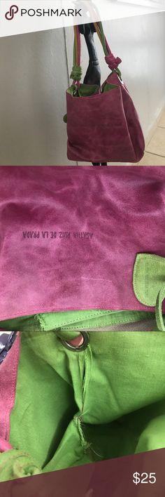 Agatha Ruiz de la Prada pink purse Beautiful and colorful bag.  It is broken inside but it can be sewed and fixed Agatha Ruiz De La Prada Bags