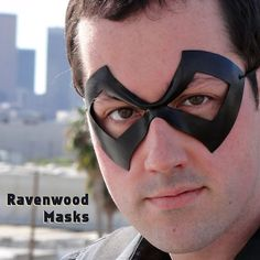 Leather mask Excite Made to Order by RavenwoodMasks on Etsy