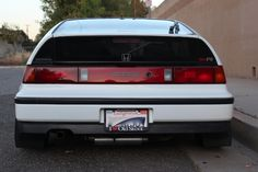 1989 Honda CRX, rear view.