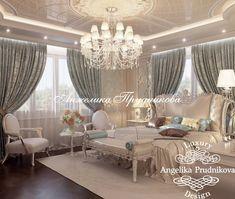 Интерьер спальни в классическом стиле. Фото 2018