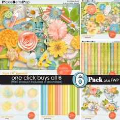 SIGN OF SUMMER PICKLE BARREL COLLECTION BY EUDORA DESIGNS @ Pickleberrypop https://www.pickleberrypop.com/shop/manufacturers.php?manufacturerid=173 also available in separate packs @ $1/pack.