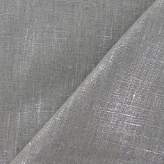 2.64/10cm.Tissu Lino lin argent métallisé x 10cm