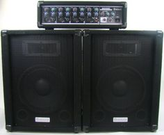 """BadAax SM400 150 Watt PA System by BadAax. $179.99. The BadAax SM400 150 Watt PA System is ideal for small to medium sized rooms or halls. This Public Address system has many features that are normally only found on higher priced systems. The BadAax SM400 has Level, EFX, Hi and Lo knobs for each of the four input channels. Each channel will accept both XLR and 1/4"""" connections. Also included is a five foot power cable and two 16 foot 1/4"""" to 1/4"""" speaker cables. You will not f..."""