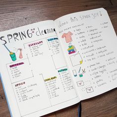 Bullet Journal Cleaning Spreads To Keep Your House Clean - AnjaHome - bullet journal spring cleaning spreads bullet journal spring cleaning spre - Bullet Journal Layout, Bullet Journal Inspiration, Journal Ideas, Bullet Journals, Bullet Journal Cleaning, Sky Design, New Girlfriend, Spring Cleaning, Clean House