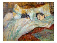 Henri de Toulouse-Lautrec.  The Bed (Le Lit). 1892.