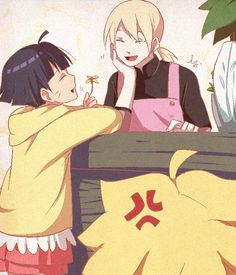 Aww cute I love this, especially since Boruto is so protective X)))))
