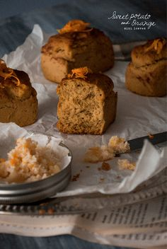 Sugar Free + Vegan – Sweet Potato and Orange Mini Loaves with Orange and Cinnamon Spiced Coconut Butter