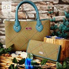 Ness Ebony Classic Tweed Handbag In Lecross Herringbone