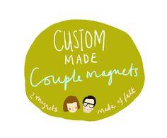 Custom Made Couple Magnets by KatyPillingerDesigns on Etsy