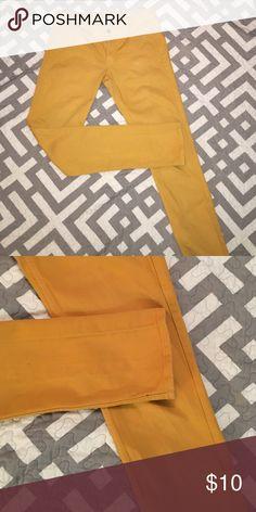 Mustard yellow skinny jeans. Mustard yellow Arizona Co. super skinny jeans. Arizona Jean Company Pants Skinny