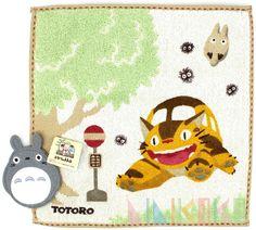 Official Studio Ghibli My Neighbor Totoro - Bus Station handkerchief towel