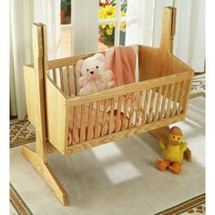 How to make your own heirloom baby cradle from free woodworking plans. Pendulum,Shaker, Antique, or Modern Wooden Baby Cradle plans Parts and woodworking tools Baby Cradle Plans, Baby Cradle Swing, Baby Swings, Baby Crib Diy, Baby Cribs, Baby Beds, Woodworking Supplies, Woodworking Projects, Woodworking Plans