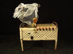 Vintage tin penny toy Germany baby bed 1920's Meier ? Distler ? RARE   eBay