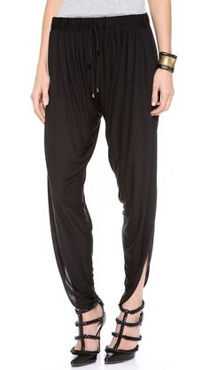 Haute Hippie's jersey harem pants remind me of ONJ's jumpsuit worn in finale of Xanadu.  I am in search of that disco perfection.