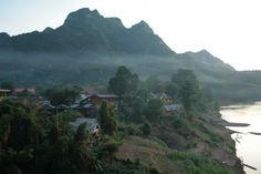 Mist rolls over the village of Nong Khaiw.