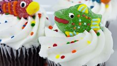 Cupcakes s rybičkami