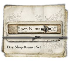 Etsy Shop Banner  Natural Layers set  banners by BrandSense