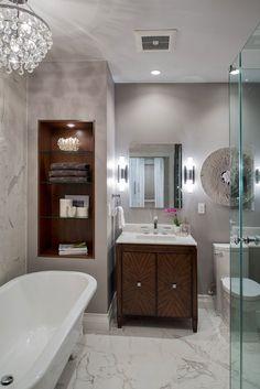 Traditional design with an art[D]deco twist[P] Glam Bathroom Design