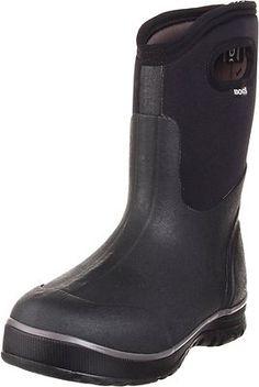 Bogs Men's Ultra Mid Handle Black Waterproof Boot 51407 | eBay
