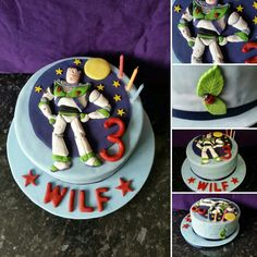 Buzz Lightyear birthday celebration cake