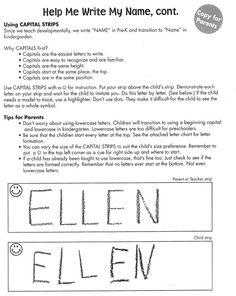 Preschool Curriculum   Boone Preschool Curriculum: Help Me Write My Name