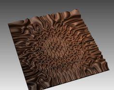 Decorative abstract 3D relief op art sculpture model for CNC