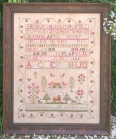 Agness Horsburgh is the title of this cross stitch pattern from Samplers Not Forgotten.