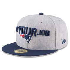 separation shoes 0c890 9178b New England Patriots New Era 2018 NFL Draft Official On-Stage 59FIFTY  Fitted Hat – Heather Gray Navy