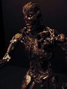 Custom T-700 with molten metal - Terminator Salvation T-800 Final scene