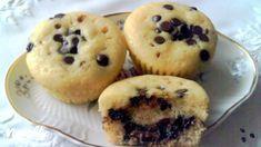 Csokoládécseppel és nutellával töltött muffin   Nosalty Nutella, Muffins, Sweets, Cookies, Breakfast, Recipes, Food, Crack Crackers, Morning Coffee