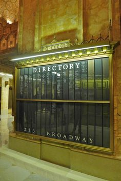 Woolworth Building directory