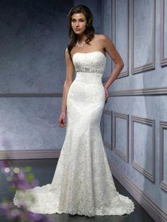 Sheath Lace Wedding Dress from FTCline.com