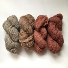 From left to right: cutch modified with iron, cutch modified with copper, madder (1st and 2nd dye bath)