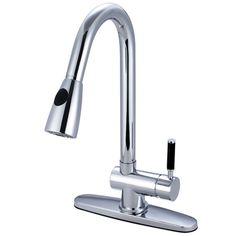danze citron chrome 1 handle pull down kitchen faucet dh450177 rh pinterest com