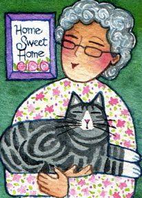 love Susan Faye's kitty watercolors