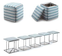 Resource Furniture - 5 or more stools / seats in 1 # AWESOME # for saving space in a little house