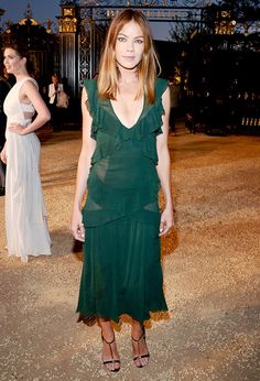Michelle Monaghan Wearing Emerald Green via @WhoWhatWear