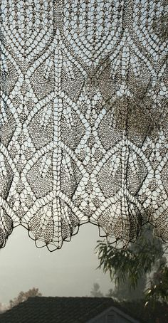 elegant knitted lace curtain