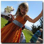 Custom flower girl dresses are available at a small cost.