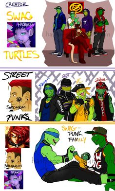 teenage mutant ninja turtles with swag deviantart - Google Search