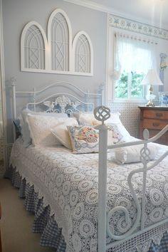 Beautiful crocheted bedspread