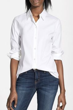 cb9e6dcbe 20 Best White Button Down Shirt images | Classy outfits, Clothing ...