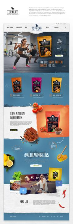 A rich, vibrant and engaging site for a young, modern food brand.